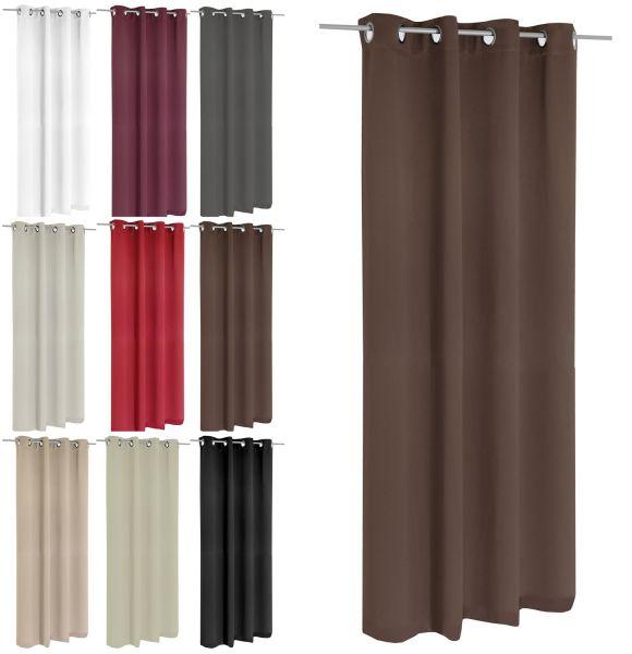 Ösenvorhang Verdunklungsgardine Gardine Fensterschal Vorhang 3 Größen 9 Farben-