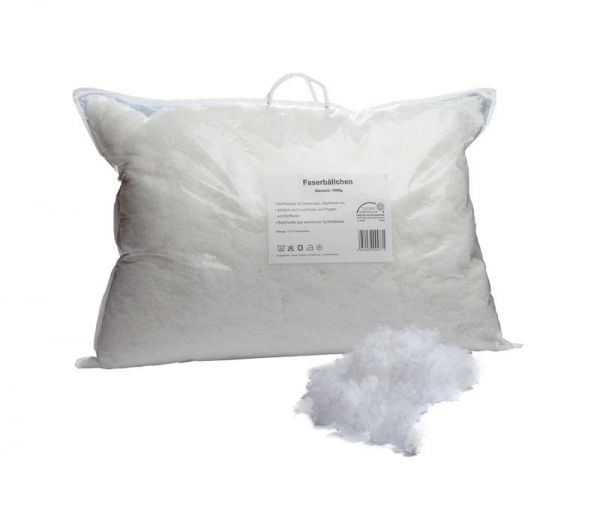 Kissenfüllung, 1000 Gramm, in wiederverschließbare Tasche