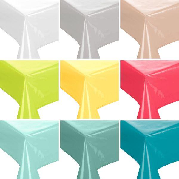 Lacktischdecke Gartentischdecke Küchentischdecke abwaschbar in verschiedenen Farben 160 cm rund