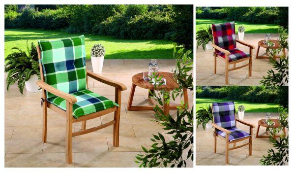 Gartenstuhlauflagen Sitzauflagen Auflagen für Niedriglehner in 3 Farben UVP 19,95