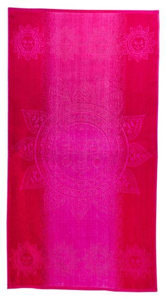 Badetuch 90x165 cm Sonne pink