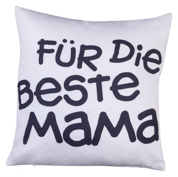 """Kissen Dekokissen Sofakissen Kissenhülle mit Füllung """"Beste Mama"""""""