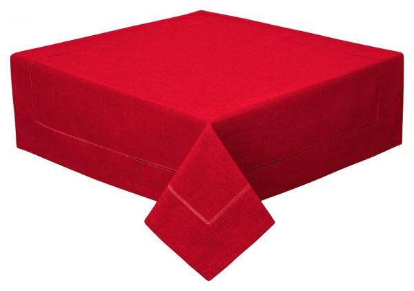 Tischdecke Decke Fleckschutz Leinenstruktur Zierstich in 2 Größen und 11 Farben
