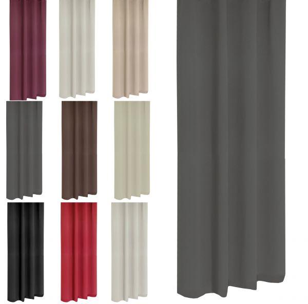 Kräuselvorhang Verdunklungsgardine Gardine Fensterschal Vorhang 3 Größen 9 Farben
