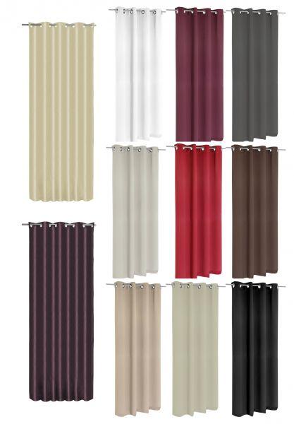 Ösenvorhang Verdunklungsgardine Gardine Fensterschal Vorhang 2 Größen 11 Farben