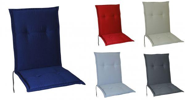 Gartenstuhlauflagen Stuhlauflagen Sitzauflagen Auflagen Niedriglehner 5 Farben