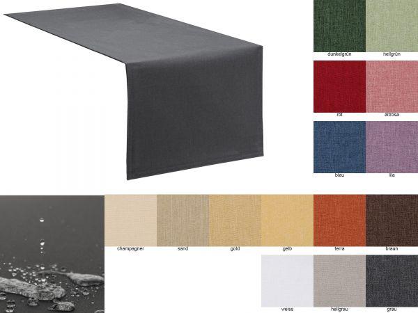 Tischläufer mit Fleckschutz, Lotus Effekt, abwaschbar in 14 Farben und 3 Größen