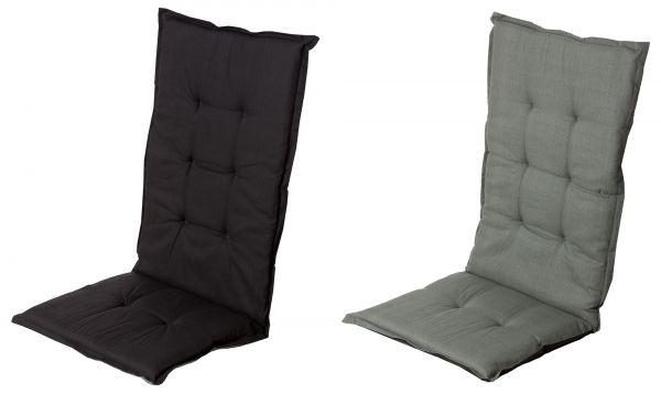 wende gartenstuhlauflage f r hochlehner madison schwarz anthrazit stuhlauflagen f r. Black Bedroom Furniture Sets. Home Design Ideas