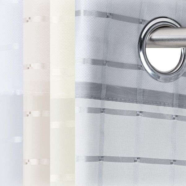 Ösenvorhang transparent 140x245cm Karo