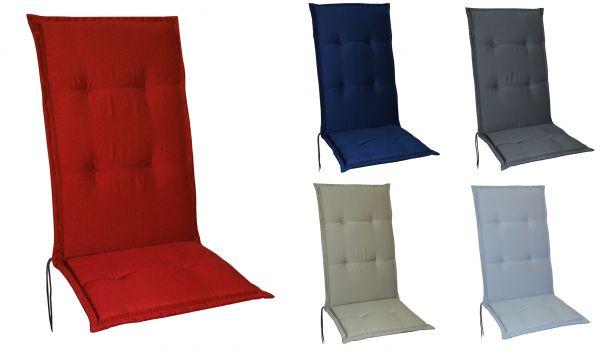 Gartenstuhlauflagen Stuhlauflagen Sitzauflagen Auflagen Hochlehner 5 Farben