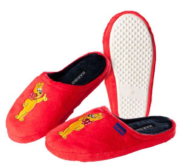 HARIBO Hausschuhe / Pantoffeln für Damen und Kinder Rot Größe: 36 - 41