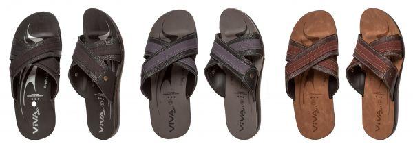 Herren Sandale mit Kreuzriemen in 3 Farben und 6 Größen