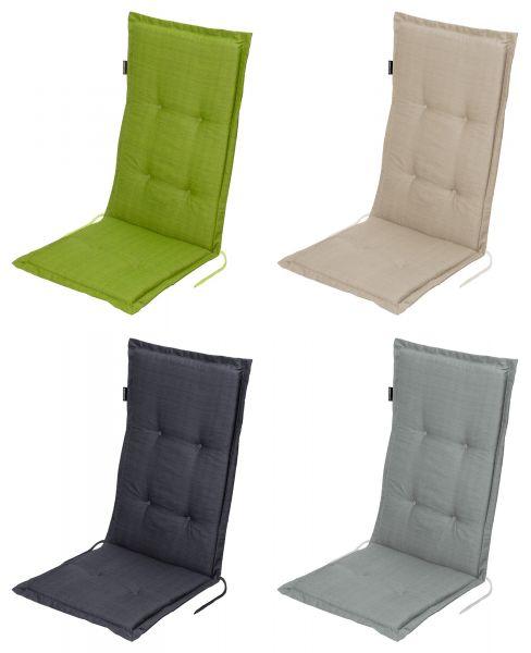 """Gartenstuhlauflage für Hochlehner """"Madison"""" in 4 Farben Größe: 50x118x5 cm"""